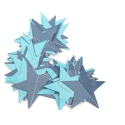 Girlang med blå stjärnor blå