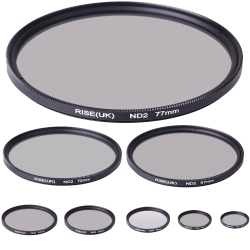 Gråfilter ND2 (2X) 49 - 77 mm. Välj storlek i listan! 49mm