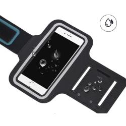 Hållare löpning telefon ex Iphone 6 plus 6s plus 7 plus Xs max svart 8.5*16cm