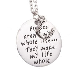 Halsband med berlock smycke häst hästtjej tjej  Silver