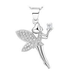 Halsband med trollslända silverfärgad present smycke student  Silver