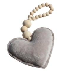 Hänge mobil dekoration grått hjärta barnvagn säng vagn inredning Grå