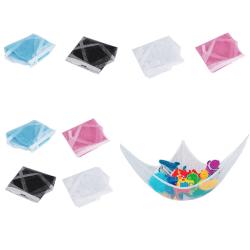 Hylla / nät trekant hörna med 3 krokar nät Rosa