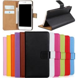 Iphone 6/6s/6+/6s+/7/7+/8/8+ plånbok skal fodral - Gul Iphone 7+/8+