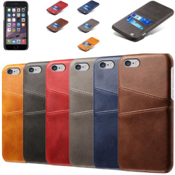 Iphone 6 Plus 6s Plus + skydd skal fodral kort visa mastercard - Svart iPhone 6+/6s+