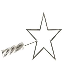 Julgran stjärna toppen  Silver