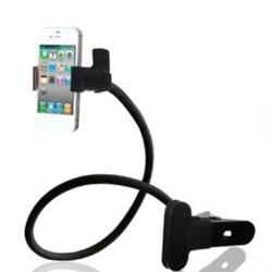Kraftig telefonhållare arm och klämma fäst i bordet bilen Svart