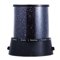 LED Lampa Stjärnhimmel USB eller batteri skiftande färger svart