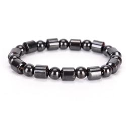 Magnetiskt armband stenar hälsa smycke vikt  Svart