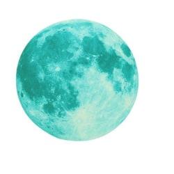 Måne väggdekor stickers blå / grön / gul
