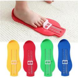 Mätredskap för fötter skostorlek måttband mäta storlek barn blå