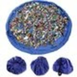 matta förvaring picnic lego leksaker lekmatta blå Blå