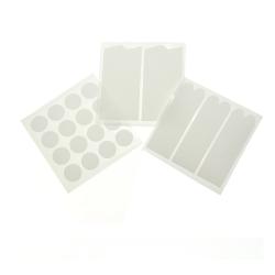 Nagel klister märke, stickers, formar till fransk look, 12 ark  vit