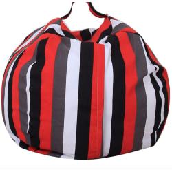 Påse boll kudde , randig Svart , vit , grå , röd