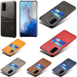 Samsung S20 FE skydd skal fodral skinn kort visa mastercard - Ljusbrun / beige S20 FE