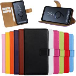 Samsung S7edge/S8/S8+/S9/S9+ plånbok skal fodral Orange Samsung Galaxy S9
