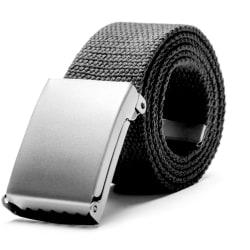 Skärp i mörkgrått canvas tyg bälte unisex justerbar längd Mörkgrått