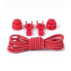 Skosnöre för mindre barn, färg röd Rödmelerad