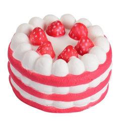 Squeeze tårta leksak barn skola avstressande stressleksak. Rosa / vit