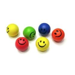 Stressboll smiley barn skola lek avslappning adhd, röd röd