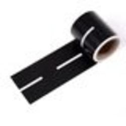 Väggdekor tejp rak väg svart barnrum inredning lek bilar  Svart/vit