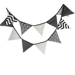 Vimpel dekoration inredning kalas fest barnrum barn vimplar grå Vit / svart / grå