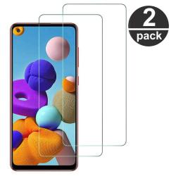 (2-Pack) Skärmskydd Härdat Glas Galaxy A21s Samsung Galaxy A21s