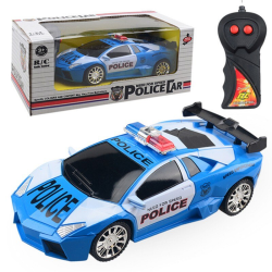 1:24 Model Electric Police RC Cars 2 channels Remote Control Blue