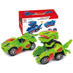 3D Deformation LED Car Kids Dinosaur Toys Play Vehicles+Light G