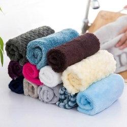 3Pcs/Lot Kitchen  Absorbent Cleaning Cloth Rag Bamboo Fiber Random Color 3pcs