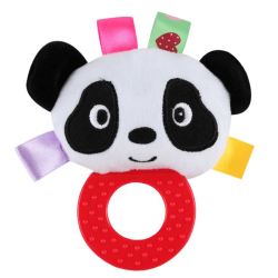 Baby Puzzle Rattles Lathe Hanging Ring Animal Teether Toys