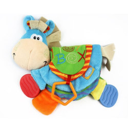 Baby Teether Toys Cute Animal Donkey Stool Book