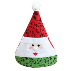 Julkeps Tjock Ultra Soft plysch Tecknad Santa Hat