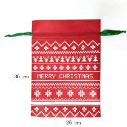 Christmas Gift Bag Drawstring Portable Storage Candy Bag A