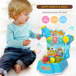 Happy Whack-A-Mole Music Kids Toy Hit Hamster Game Instruments Random Color