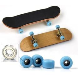 Kids Fingerboard Wheels Wooden Finger Skateboard Novelty Toy