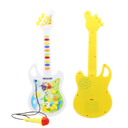 Musical Toy Kids Guitar Portable Keyboard Toy with Microphone