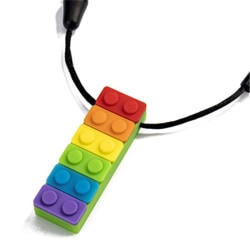 Newborn Silicone Baby Teether Teething Necklace Rainbow