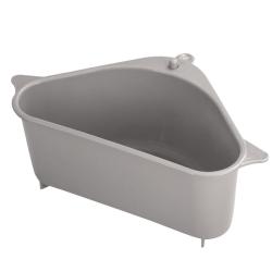 Plastic Dish Drainer Tray Kitchen Drain Basket Suction Cup Type Dark Gray