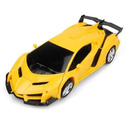 RC Car Transformation Robots Remote Control Deformation Yellow