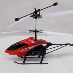 RC Helicopter Drone 2 Channel Indoor Remote Control Aircraft Toy Red