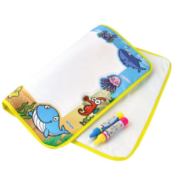 Water Drawing Mat Blanket Marine Organism Drawing Toys for Kids A