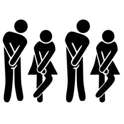 2-pack Väggdekor - Toalett WC symbol