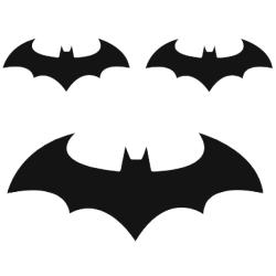 Väggdekor - Batman logo svart