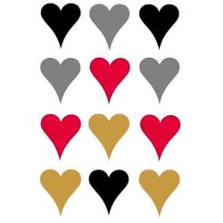 Väggdekor - 12st Hjärtan