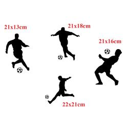 Väggdekor - Fotbollsspelare 4 Modell