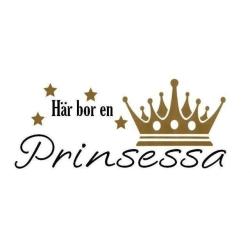 Väggord - Här bor en Prinsessa