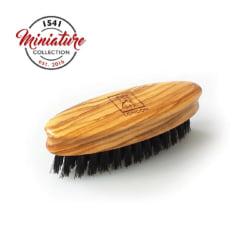 1541 London Mini Beard & Moustache Brush Olivewood Transparent