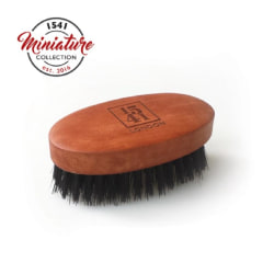 1541 London Mini Beard & Moustache Brush Pearwood Transparent