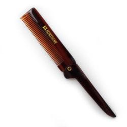 1541 London Pocket Size Fine Tooth Folding Comb Transparent